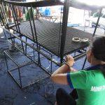 Ghế hồ bơi ngoài trời được thiết kế với khung sắt sơn tĩnh điện đan sợi mây nhựa giả mây kháng uv