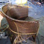 Cách thức đan bàn ghế café mây nhựa MT2A29  ngoài trời tại xưởng sản xuất Minh Thy Furniture