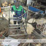 Quá trình sản xuất bàn ghế sắt ngoài trời