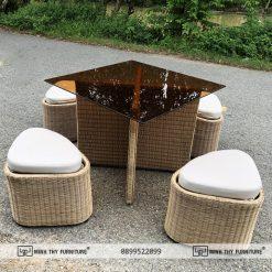 Bộ bàn ghế cafe mây nhựa MT 2A275