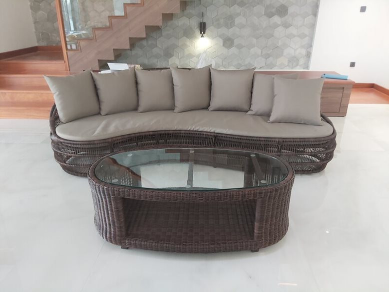 sofa nhựa giả mây MT 1000