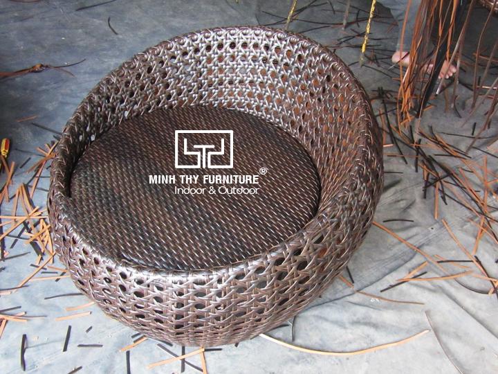 Hướng dẫn đan bàn ghế cafe mây nhựa kiểu trứng dây dẹp