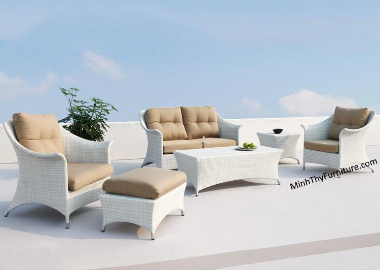 Bộ Sofa Nhựa Giả Mây MT161