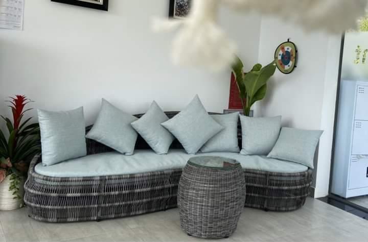 Sofa mây nhựa